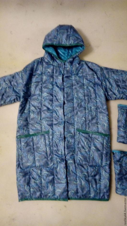 """Верхняя одежда ручной работы. Ярмарка Мастеров - ручная работа. Купить Пальто из стеганной плащевки """" Бирюза"""". Handmade. Бирюзовый"""