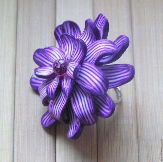 """Кольца ручной работы. Ярмарка Мастеров - ручная работа. Купить Кольцо из полимерной глины """" Цветок """", разные цвета. Handmade."""