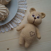 Куклы и игрушки ручной работы. Ярмарка Мастеров - ручная работа Игрушка-погремушка (мишка). Handmade.
