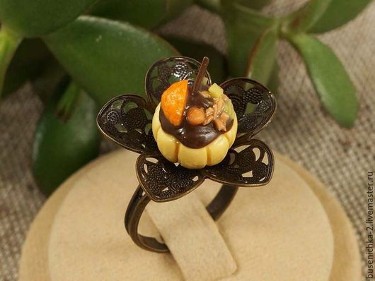 Кольца ручной работы. Ярмарка Мастеров - ручная работа. Купить Кольцо Десерт №8. Handmade. Подарок девушке, подарок девочке
