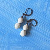 Украшения handmade. Livemaster - original item White earrings, earrings jewelry, earrings with ceramic beads. Handmade.