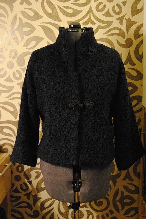 Пиджаки, жакеты ручной работы. Ярмарка Мастеров - ручная работа. Купить Жакет Осень-Весна. Handmade. Тёмно-синий