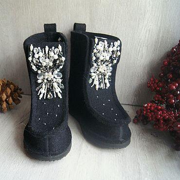 Обувь ручной работы. Ярмарка Мастеров - ручная работа Валеши с вышивкой. Handmade.