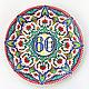 Декоративная посуда ручной работы. Декоративная тарелка 'В марокканском стиле' с персональной надписью. Декоративные тарелки Тани Шест. Ярмарка Мастеров.