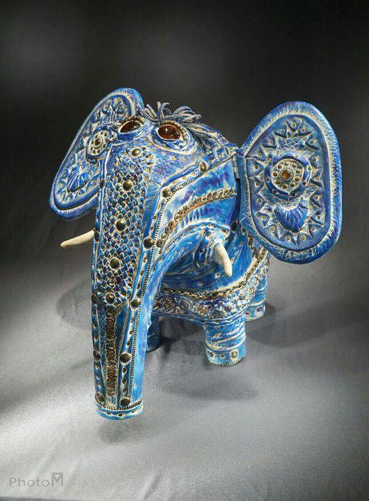 Статуэтки ручной работы. Ярмарка Мастеров - ручная работа. Купить Слон с чубчиком. Handmade. Слоник ручной работы, слоник, стекло