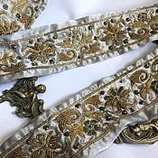 Материалы для творчества handmade. Livemaster - original item Antique satin ribbon No№650. Handmade.