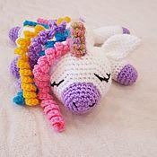 Мягкие игрушки ручной работы. Ярмарка Мастеров - ручная работа Единорог Сплюшка. Handmade.