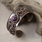 Украшения handmade. Livemaster - original item Bracelet made of copper with amethyst