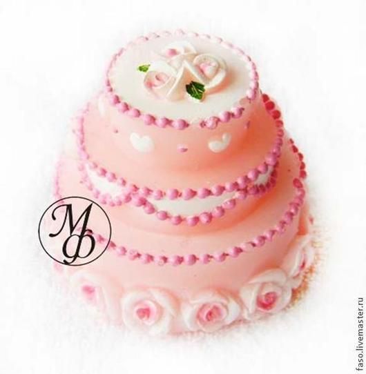 """Материалы для косметики ручной работы. Ярмарка Мастеров - ручная работа. Купить Силиконовая форма """"Торт"""". Handmade. Розовый, форма для мыла"""