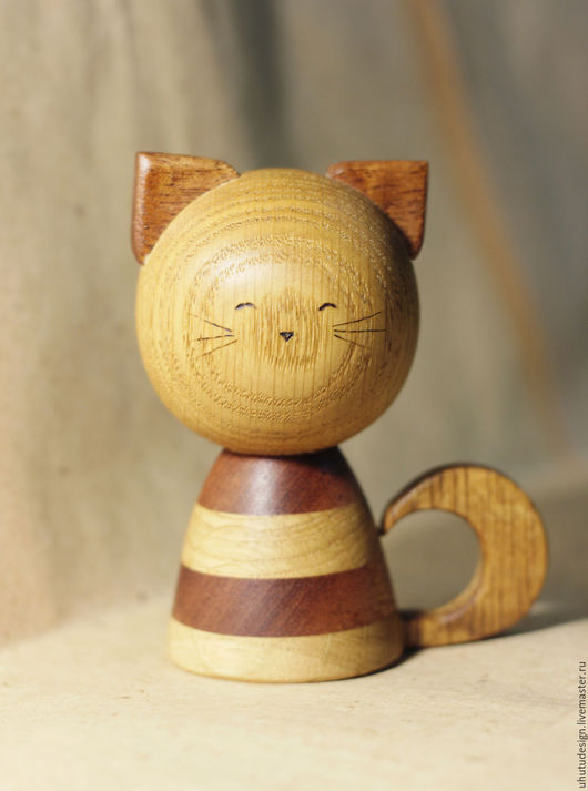 Игрушки животные, ручной работы. Ярмарка Мастеров - ручная работа. Купить Котенок. Handmade. Котенок, деревянная игрушка, сапеле