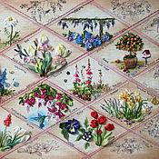 Картины ручной работы. Ярмарка Мастеров - ручная работа картина Цветы в ретро. Handmade.