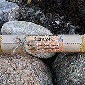 Сувениры и подарки handmade. Livemaster - original item Candle from wax with Basil, 20cm. Handmade.