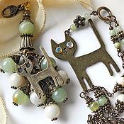 Аксессуары ручной работы. Ярмарка Мастеров - ручная работа Брелок Дочь Кота Баскервилей украшение на сумку брелок для ключей. Handmade.