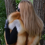 Одежда handmade. Livemaster - original item Vest fur Siberian red Fox. Solid. With collar. Handmade.