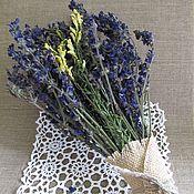 Цветы и флористика ручной работы. Ярмарка Мастеров - ручная работа Букет из цветков шалфея и льнянки. Handmade.