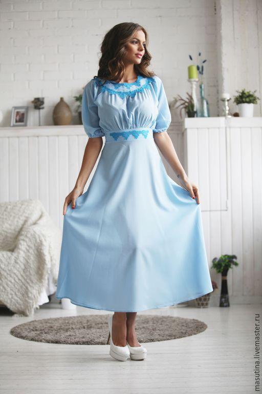 """Платья ручной работы. Ярмарка Мастеров - ручная работа. Купить Платье """"Ундина"""". Handmade. Голубой, платье в пол"""