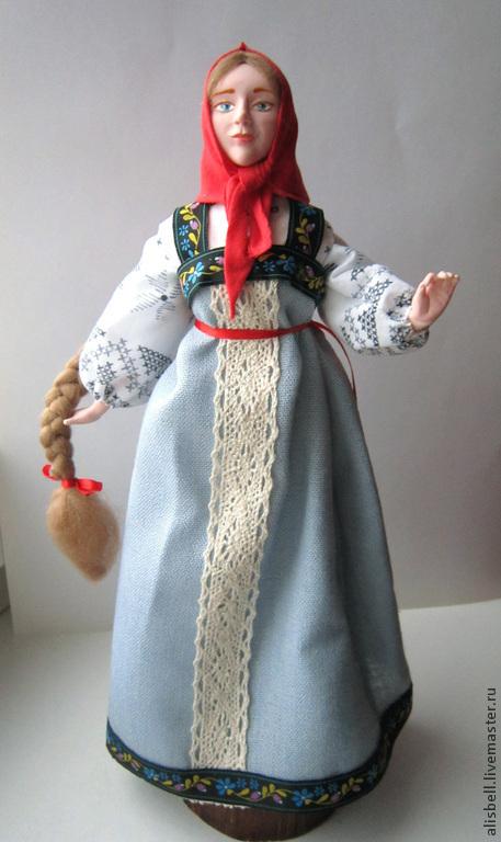 """Народные куклы ручной работы. Ярмарка Мастеров - ручная работа. Купить кукла интерьерная в русском стиле """"Аленушка"""". Handmade. Голубой"""