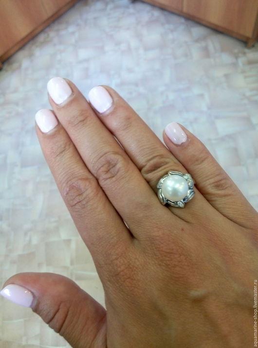Кольца ручной работы. Ярмарка Мастеров - ручная работа. Купить Кольцо Подсолнух. Handmade. Белый, кольцо из серебра, цветок, фианиты