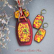 Украшения handmade. Livemaster - original item Red and yellow set of jewelry