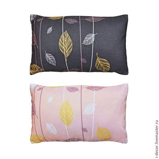 Декоративная подушка из коллекции Стебель. Комплект из 2 шт. Диванная подушка, декоративная дизайнерская подушка, подушка с принтом. Подушка в подарок.
