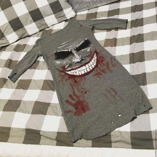 Платья ручной работы. Ярмарка Мастеров - ручная работа. Купить Joker. Handmade. Серый, ручная авторская работа, красный