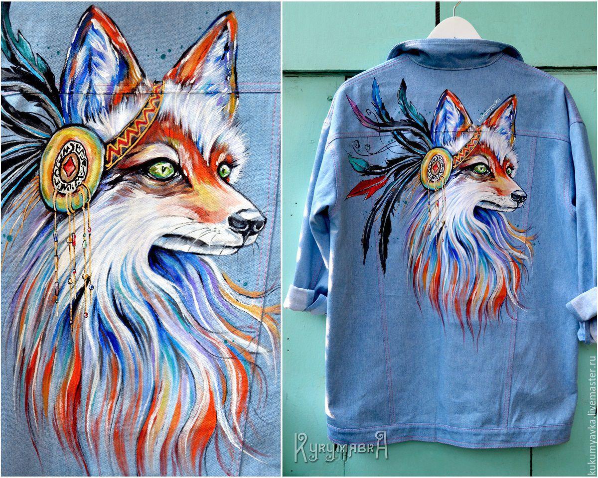 правда рисунок на джинсовой куртке акриловыми красками ракета-носитель