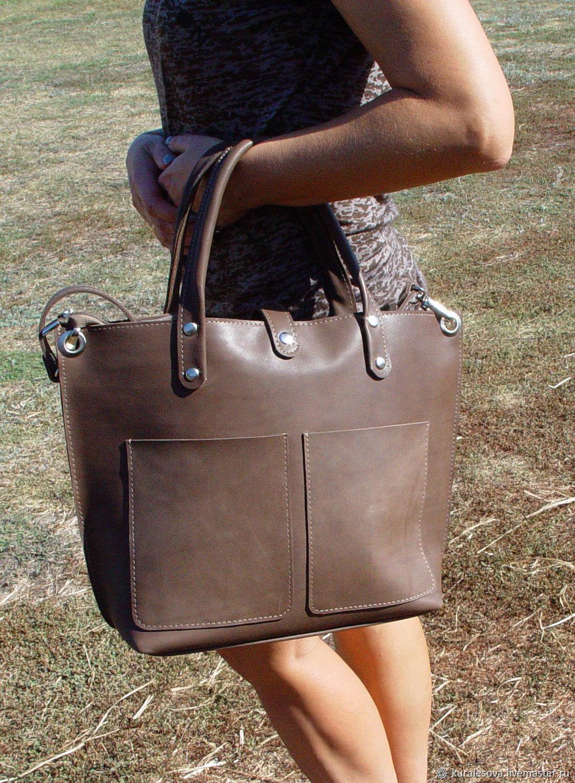 """Кожаная сумка """" Crazy village """", Classic Bag, Belgorod,  Фото №1"""
