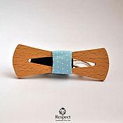 Аксессуары handmade. Livemaster - original item Wooden tie necktie Blue angel wood beech. Handmade.