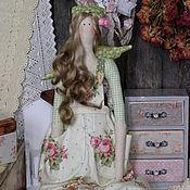 Куклы и игрушки ручной работы. Ярмарка Мастеров - ручная работа Кукла с стиле тильда  ангел роз Ида. Handmade.
