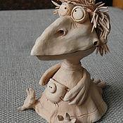 Для дома и интерьера ручной работы. Ярмарка Мастеров - ручная работа ворона керамическая, ворона керамика, ворона из глины. Handmade.