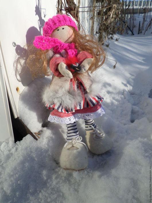 Куклы тыквоголовки ручной работы. Ярмарка Мастеров - ручная работа. Купить Софи.. Handmade. Комбинированный, птицы, волосы кукле, кружево