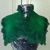Аксессуары ручной работы. Ярмарка Мастеров - ручная работа Зеленый шарф. Handmade.