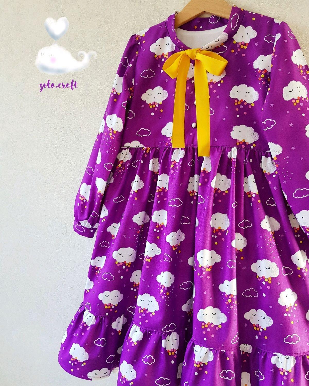 Платье с тучками из американского хлопка