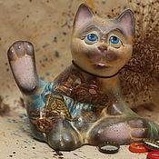 """Для дома и интерьера handmade. Livemaster - original item Sir """"Sausage Cat"""" (ceramics). Handmade."""