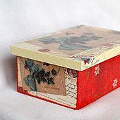 Для дома и интерьера ручной работы. Ярмарка Мастеров - ручная работа Чайная шкатулка Рождество. Handmade.