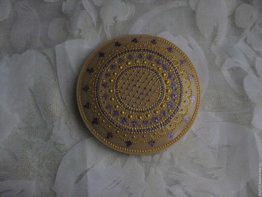 Декорированные зеркальца ручной работы. Ярмарка Мастеров - ручная работа. Купить Зеркало-сувенир складное. Handmade. Комбинированный, зеркальце карманное