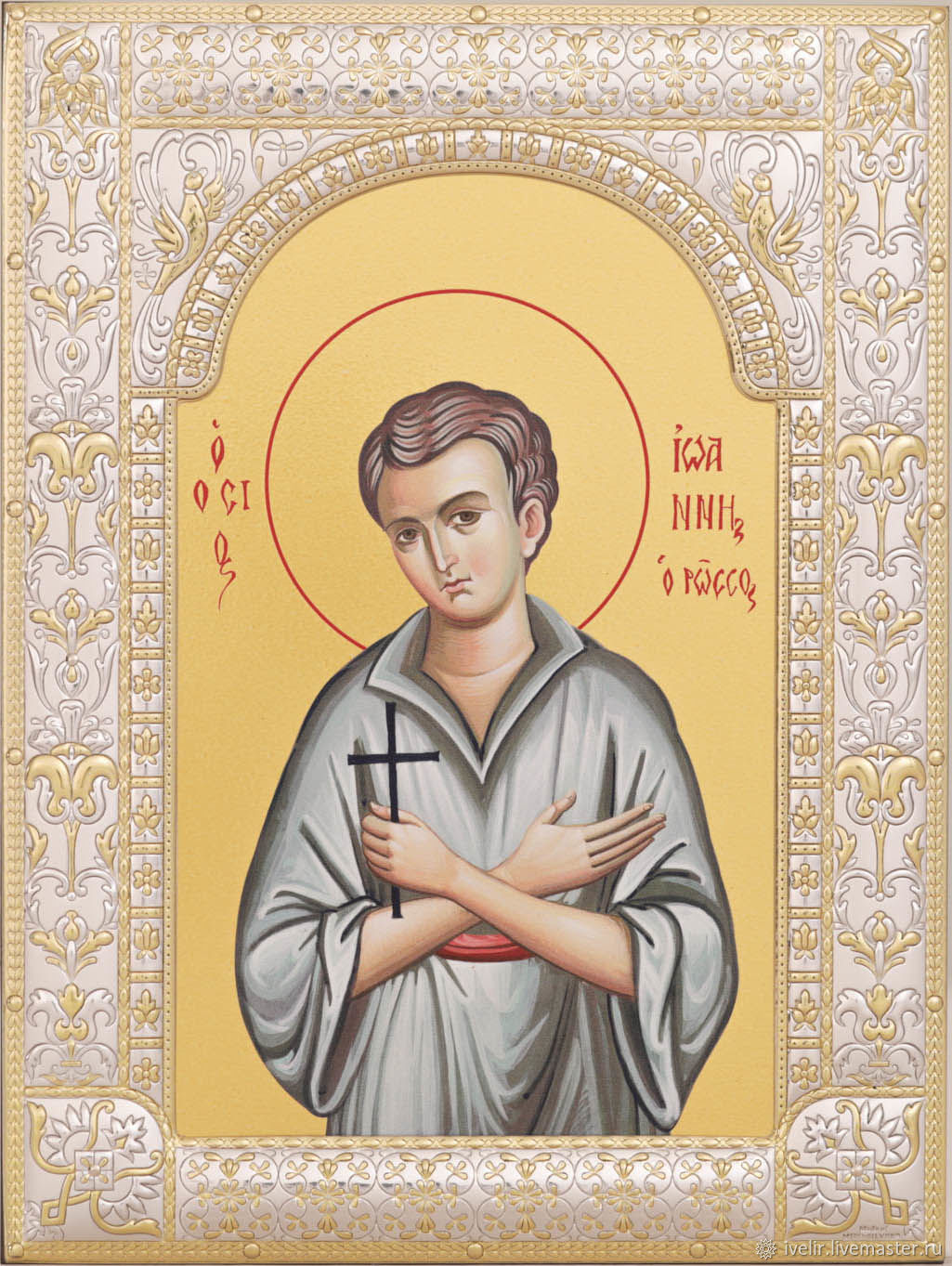 John the Russian Martyr (18h24cm), Icons, Moscow,  Фото №1