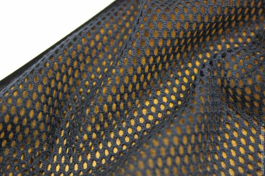 Шитье ручной работы. Ярмарка Мастеров - ручная работа. Купить ТР053  Сетка хлопковая MAX MARA цвет темно-синий,ячейка 3мм. Handmade.