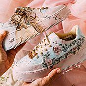 Обувь ручной работы handmade. Livemaster - original item Painting shoes Venus Botticelli. Custom Nike air Force 1 sneakers. Handmade.