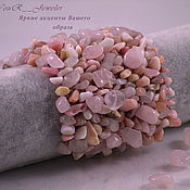 """Украшения ручной работы. Ярмарка Мастеров - ручная работа Широкий розовый браслет из натуральных камней """"Pink fairy"""". Handmade."""