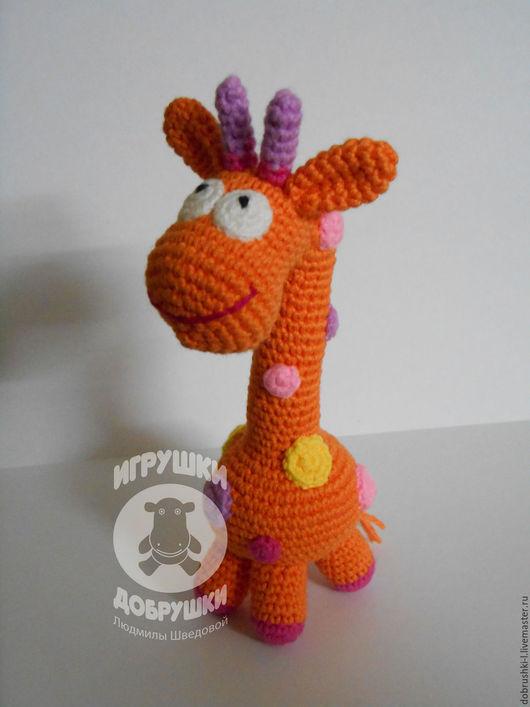 Развивающие игрушки ручной работы. Ярмарка Мастеров - ручная работа. Купить Жираф - погремушка. Handmade. Жираф, жираф вязаный