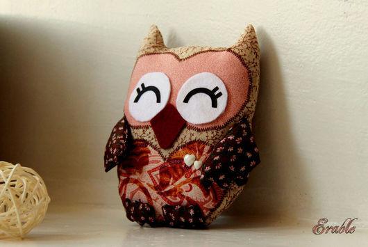 Handmade. Сова Винки, текстильная игрушка. Мастерская Erable.