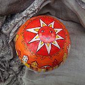 """Куклы и игрушки ручной работы. Ярмарка Мастеров - ручная работа Музыкальный шар """"Солнце и Луна"""". Handmade."""