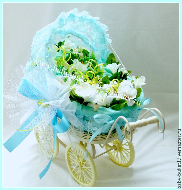 Магазины цветов, бэби-букет подарок для новорожденного