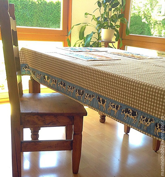 Текстиль, ковры ручной работы. Ярмарка Мастеров - ручная работа. Купить Скатерть Парное молоко 140х220. Handmade. Ланчмат