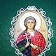 Иконы ручной работы. Ярмарка Мастеров - ручная работа. Купить Икона святая Юлия финифть. Handmade. Разноцветный, подарок для православного