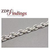 1 метр  серебряной цепочки якорное плетение 10x8.5мм 925 пробы 7540428