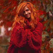 Одежда ручной работы. Ярмарка Мастеров - ручная работа Красный свитер. Handmade.