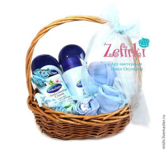 Подарки для новорожденных, ручной работы. Ярмарка Мастеров - ручная работа. Купить Корзина из детской одежды Подарок для малыша Для новорожденного. Handmade.
