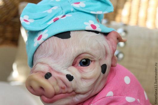 """Куклы и игрушки ручной работы. Ярмарка Мастеров - ручная работа. Купить Молд заготовка реборн свинки Чертополох Пятачок (15 """"Kit). Handmade."""